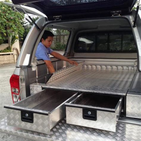 Ute Drawer Systems by Aluminum Checker Plate Drawer Systems 250 X 1500