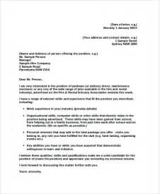 Experienced Professional Cover Letter by Professional Cover Letter Sle 8 Exles In Pdf Word