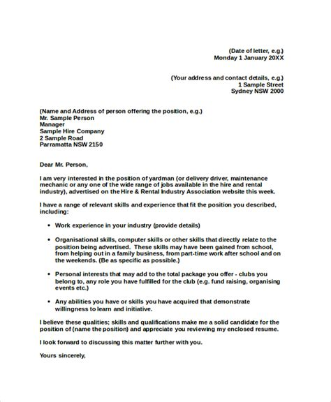 writing a professional cover letter professional cover letter sle 8 exles in pdf word
