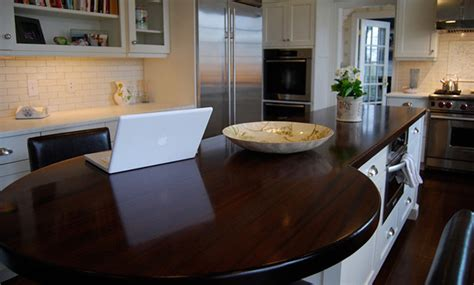walnut wood kitchen island countertop by grothouse