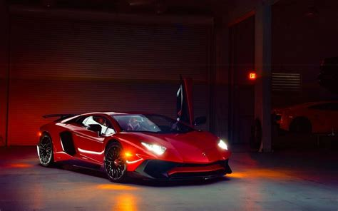 Red Lamborghini Aventador Superveloce Wallpapers   New HD