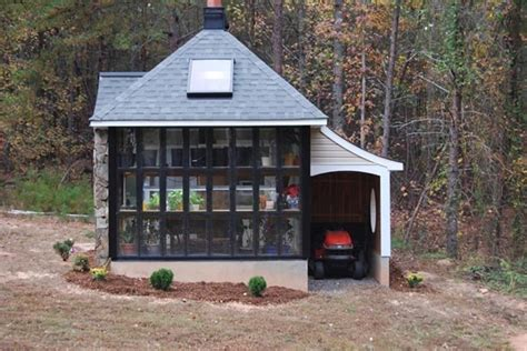 cool storage sheds jeff s all in one tiny house greenhouse storage shed lots