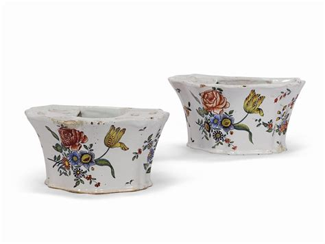 vasche per fiori coppia di vasche per fiori olanda delft seconda