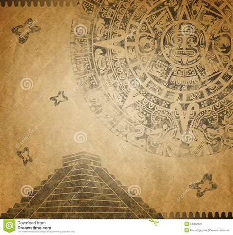 vintage newspaper wallpaper wallmaya mayan calendar and pyramid stock illustration image of retro 34362976