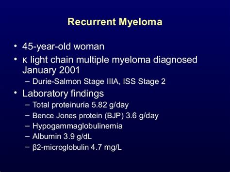 light chain myeloma prognosis relapsed myeloma