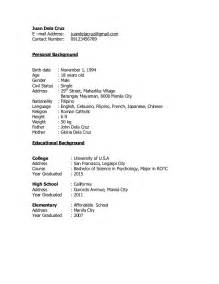 Sample Resume For Rotc Aspiring Officers