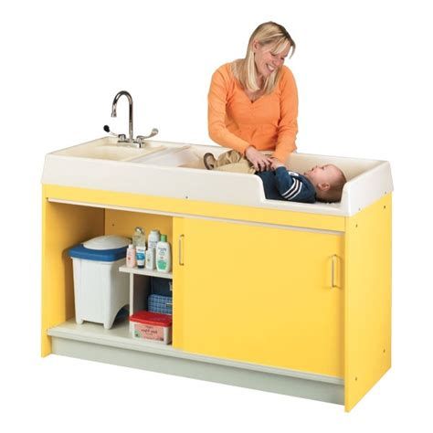 changing table with sink infant changing table for nursery or child care center