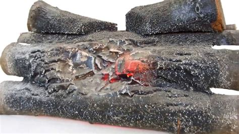 Lighted Fireplace Logs by Fake Fireplace Log Insert Electric Retro 1960s Home Decor