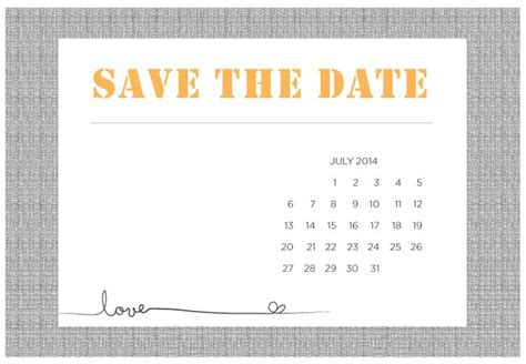 template save the date 4 printable diy save the date templates