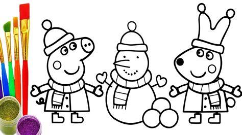 imagenes para dibujar de peppa dibujar y colorea peppa pig de arco iris dibujos para