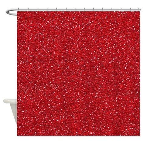 glitter curtains red glitter shower curtain by cuteprints