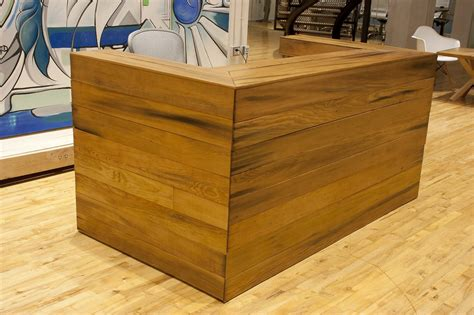 custom reclaimed fir reception desk bay area custom