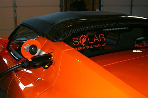 Tesla Solar Powered Car Pickering Energy Solutions Tesla Roadster Powered By Pv