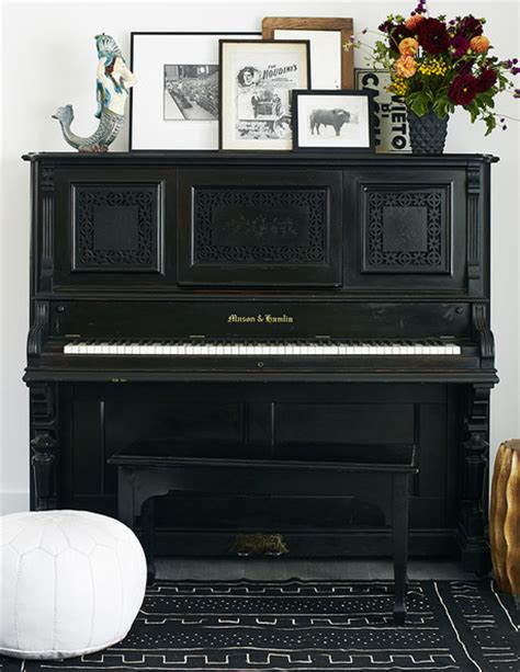 Piano Decor by 3 Ways To Lean And Layer Your Decorating Lonny