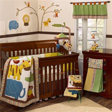 Jungle Jingle 6 Piece Crib Set Turns A Nursery Into A Jungle Curtains For Nursery