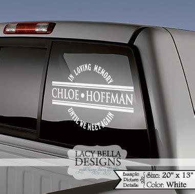 lacy bella designs personalized car memorial decals