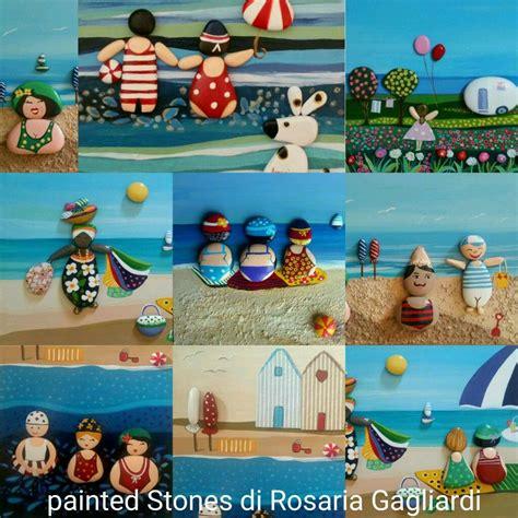 cornici gagliardi vacanze al mare painted stones di rosaria gagliardi 石头