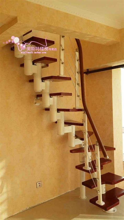 small attic stair tread staircase around a space saving mini retractable staircase stairs indoor