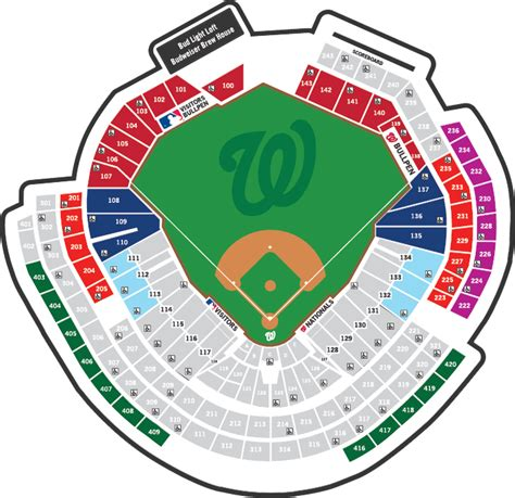 nationals park seating view washington nationals stadium seating chart nationals park