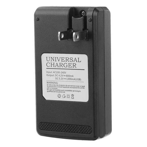Universal Travel Charger Lcd Usb Gma universal usb travel charger battery charger w 0 8 quot lcd black free shipping dealextreme