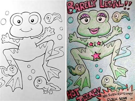 24 disturbing coloring book corruptions look what happens when humored adults get ahold of