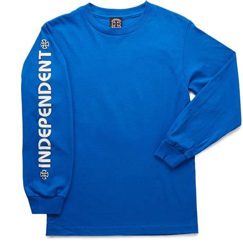 Cross Sleeve T Shirt independent bar cross sleeve t shirt royal blue