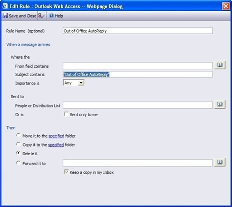 Spiceworks Help Desk Setup by How To Ignore Quot Out Of Office Quot Notifications In Spiceworks