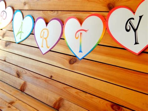 free printable heart banner 8x10 inch large triangle pennant banner letters a z