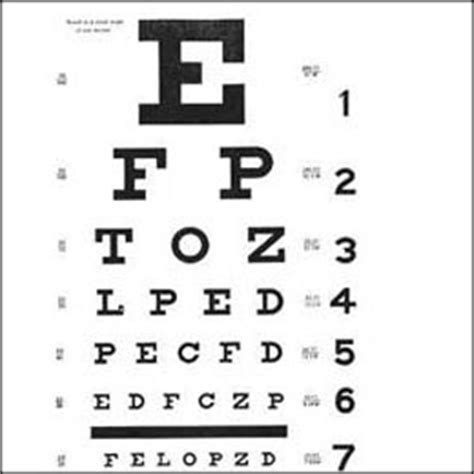 printable eye reading chart one good deed one day to light up the world september 2010