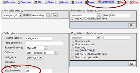 resetting primary key in sql reset the auto increment value for a mysql table