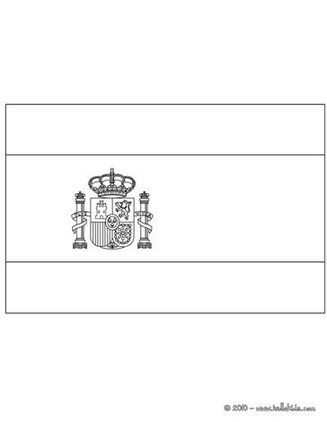 flag of spain coloring pages hellokids com