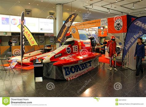 boat show october hanseboot expo on october 31 2014 editorial photography