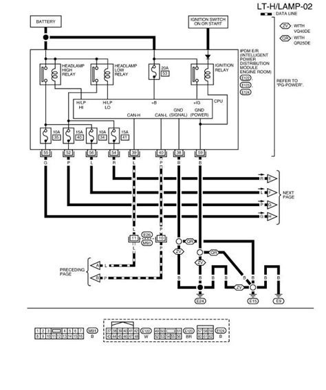 2001 nissan frontier headlight wiring diagram wiring
