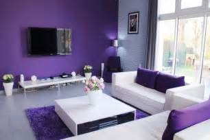 purple and white living room home