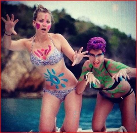 what s the gossip in hollywood kaley cuoco in a bikini the hollywood gossip
