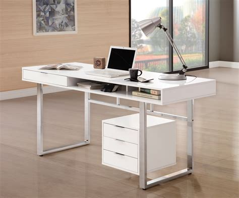 Home Office Desks Las Vegas Rafael White Lacquer Office Desk Collection Las Vegas