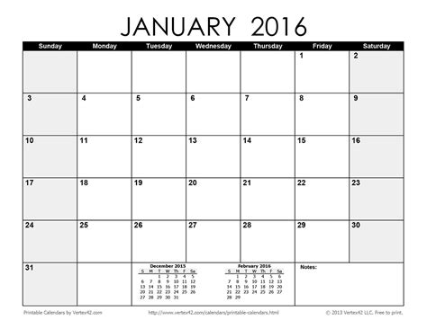 printable calendar 2016 with boxes 2016 blank calendar calendar template 2016
