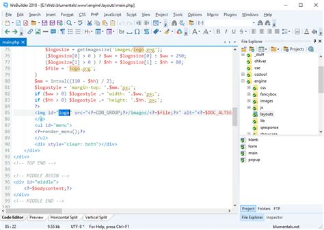 format html css js webuilder code editor for html css javascript php