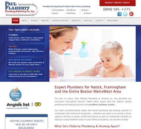 Flaherty Plumbing by 100 Plumbing Websites For Design Inspiration