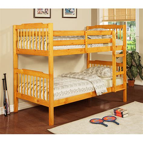 walmart bunk beds elise youth bunk bed pine unassigned home walmart com