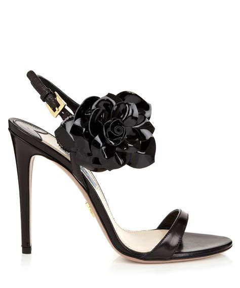 Prada Details Another Heel by Discount S Flower Leather High Heels Secretsales