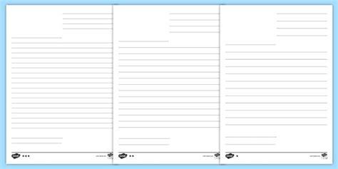 blank letter template lines teacher