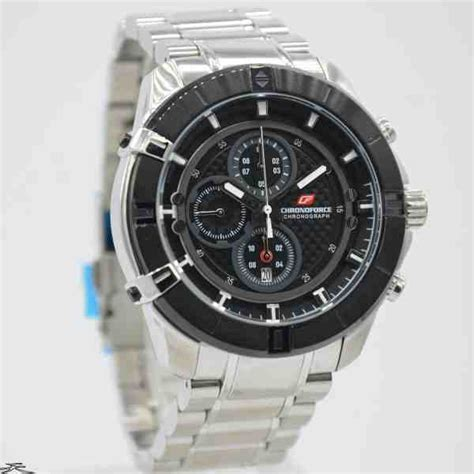 Chronoforce Black White Original jual jam tangan pria chronoforce 5251ms silver black baru
