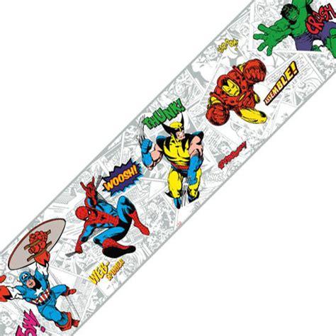 classic marvel wallpaper marvel comics classic heroes prepasted wall border