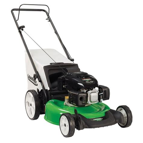 lawn boy 21 in high wheel push gas lawn mower with engine