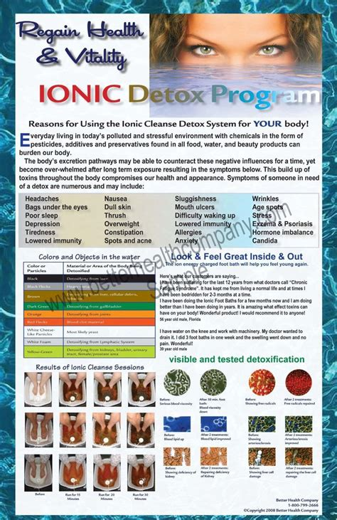 Detox Color Chart by 41 Best Ionic Foot Detox Images On Ionic Foot