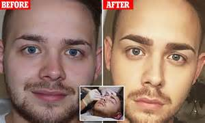 tattoo eyebrows daily mail can a man pull off permanent eyebrows vlogger jake jamie