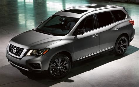 nissan pathfinder platinum midnight edition nissan expands midnight edition package to six models
