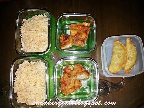 halamanku menu bento azfar  nasi tomato ayam goreng