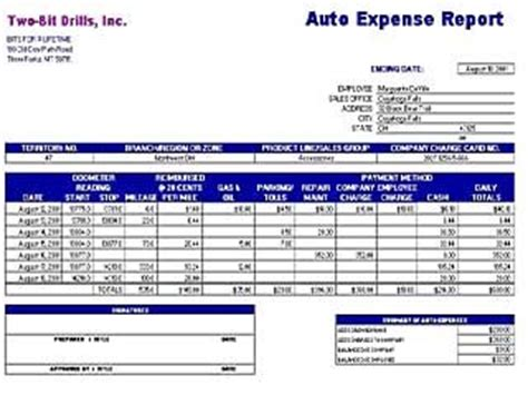layout for report exle expense templates free layout format